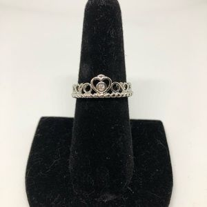 Heart crown costume ring